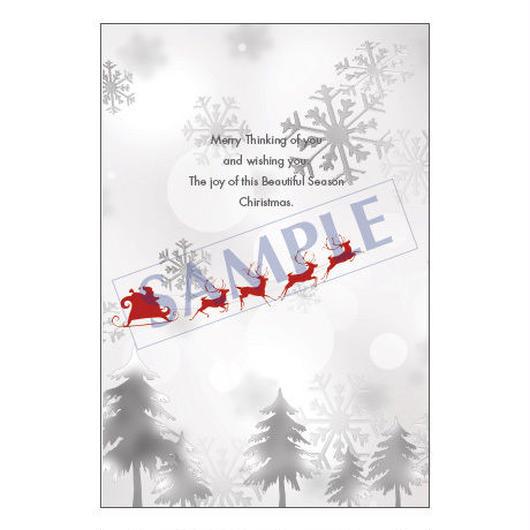 メッセージカード クリスマス 16-0789 1セット(10枚)