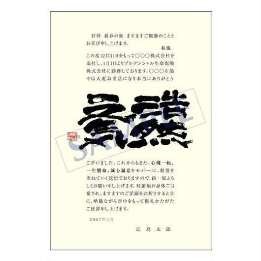 メッセージカード 転職・退職 09-0408 1セット(50枚)