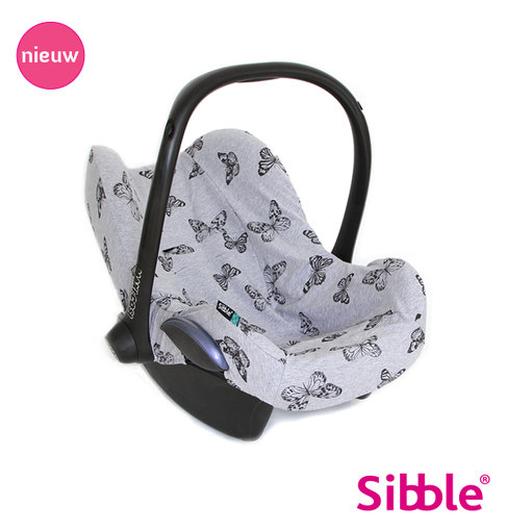 Sibble maxi-cosi専用シートカバー  バタフライ グレー