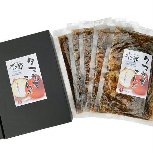 岐阜西美濃産・水都(大垣) 子持ち タマネギこんぶ/松前漬風  5袋セット(化粧箱入)