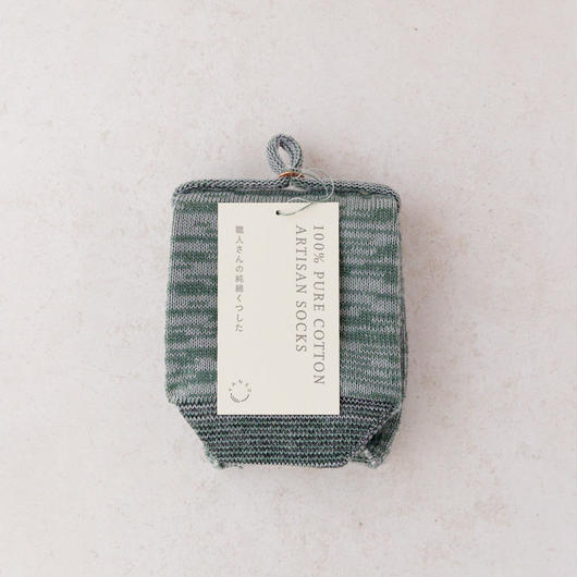 TANSU【100% PURE COTTON ARTISAN SOCKS /vegetable green】