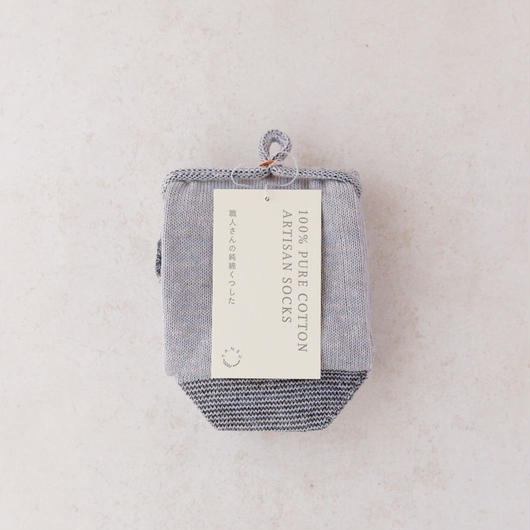 TANSU【100% PURE COTTON ARTISAN SOCKS / pebble grey】