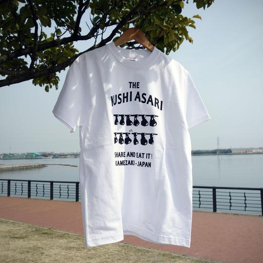 串あさりTシャツ スタンダード  White × Black