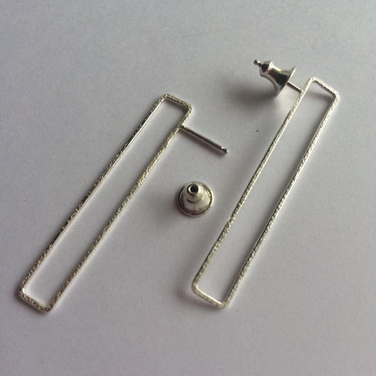 Rectangle earring, b40 /SV