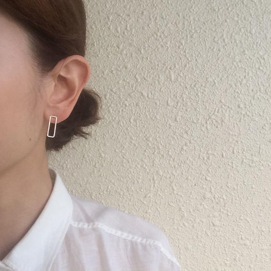 Rectangle earring, a18 /SV