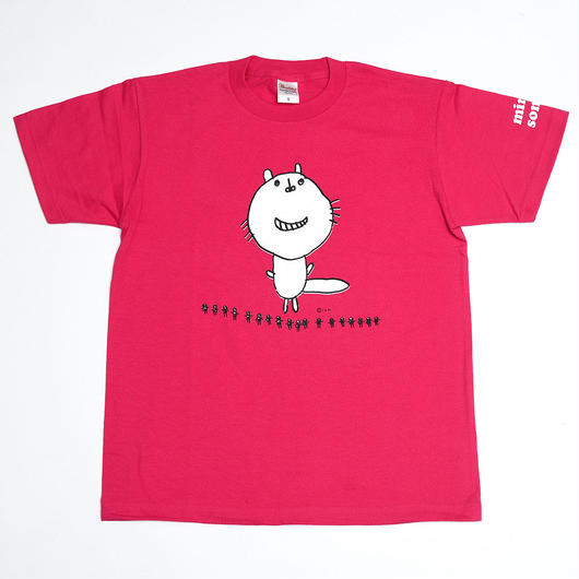 くるみちゃんTシャツ(フクマル・濃ピンク)