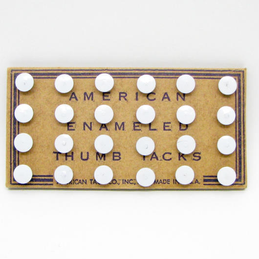 Old american enameled thumb tacks 507