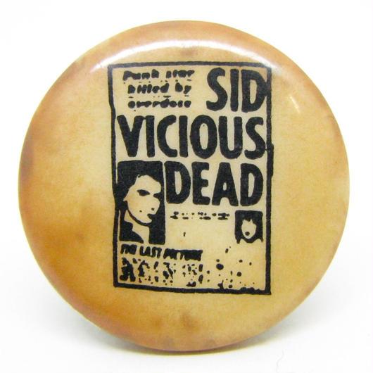 Vintage sid vicious dead pinbacks 530