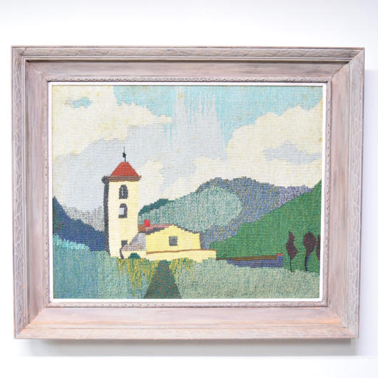 1975 framed needlepoint wall art 003
