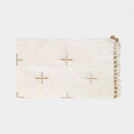 手紬ぎプレイスマット(茶)  Handspun place mat (brown)