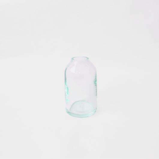 リサイクルガラスのフラワーボトル(S)  Recycle glass bottle (S)