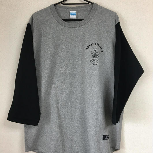 evil likely 7部袖ヘヴィーウェイトベースボールTシャツ ※受注生産