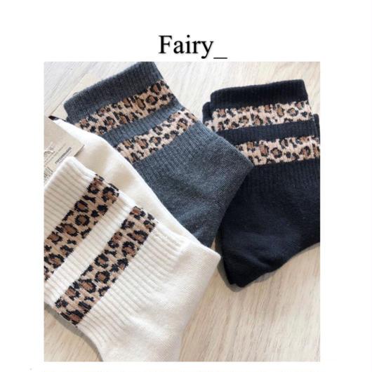 【Q1811015】 レオパード柄靴下