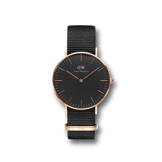 DW CLASSIC BLACK COLECTION |  36 MM CORNWALL