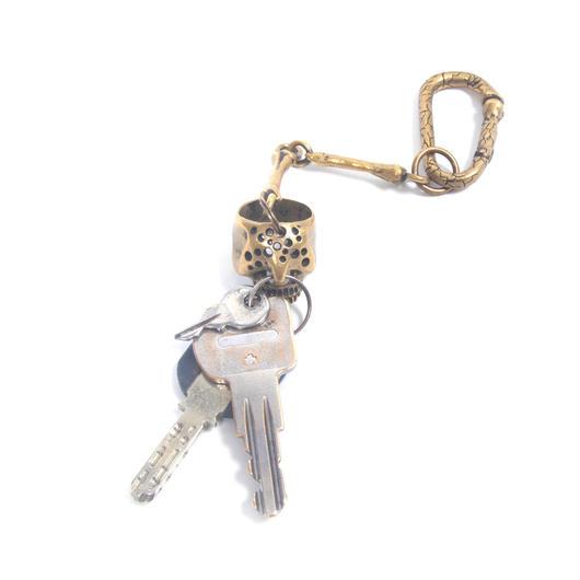 holeskull keychain brass