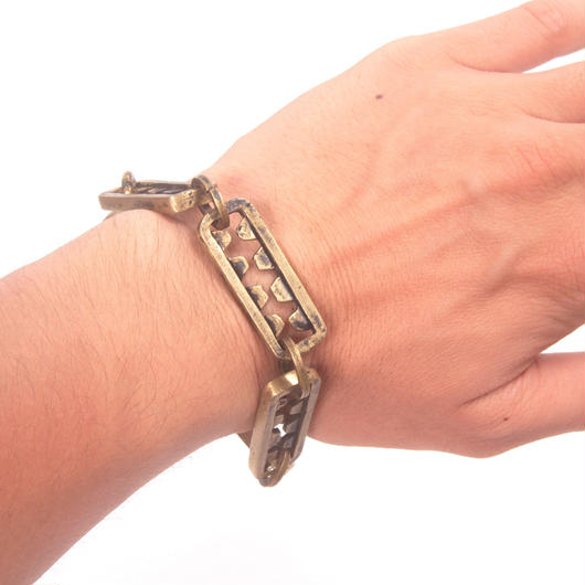 tooth bracelet brass