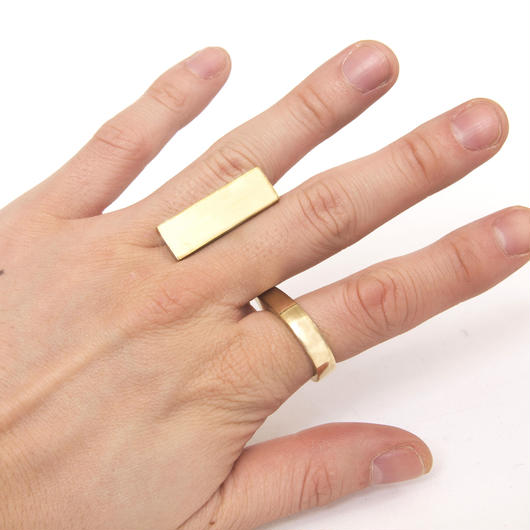 oblong ring brass