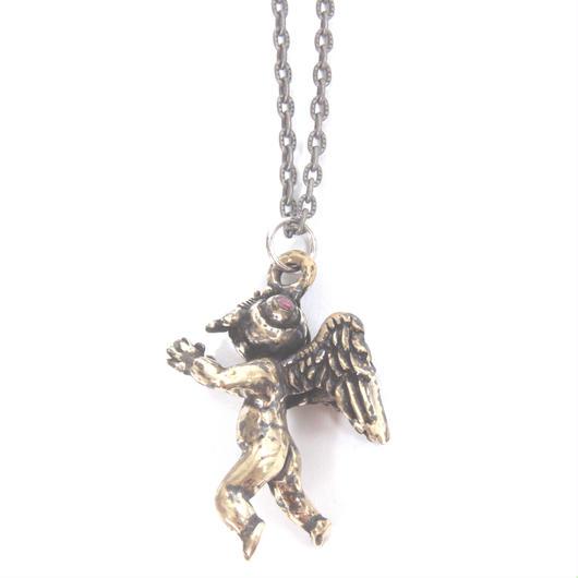 flyangel necklace brass stone