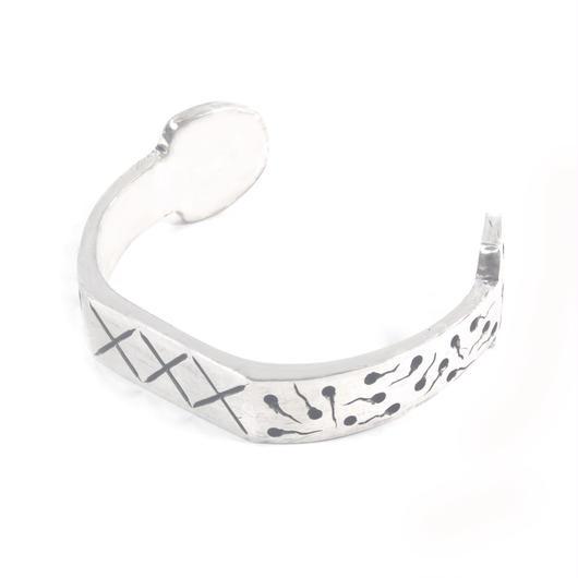 sperm bangle silver