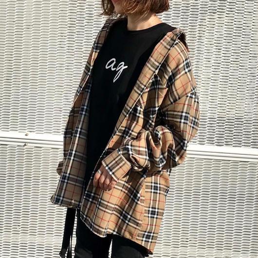 【即納】cotton チェックオーバーサイズシャツ
