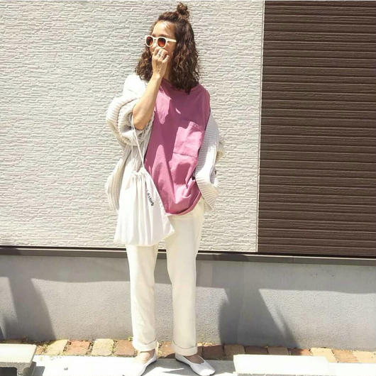 【即納】ビッグシルエットT pink