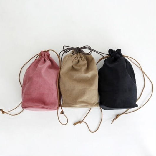 【sold out】コーデュロイ 巾着バッグ