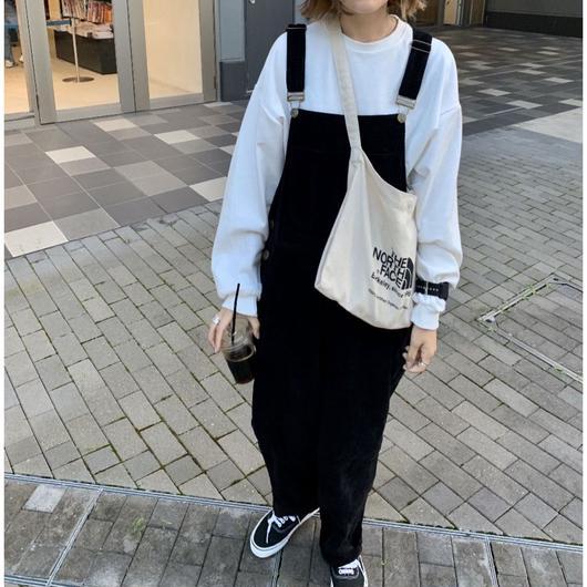 【予約】コーデュロイサロペット black