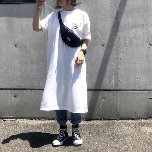 【6月中旬 予約】ロゴ Tシャツワンピース