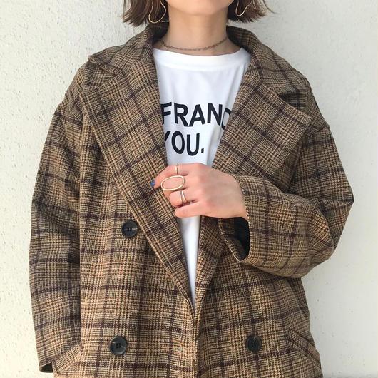 【予約】レトロチェック チェスターコート