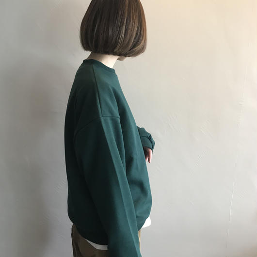 【sold out】bigスウェット deep green