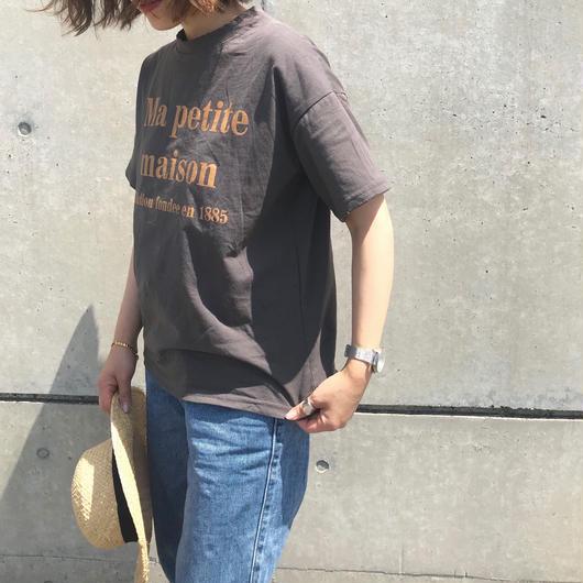 黄ロゴTシャツ(gray)
