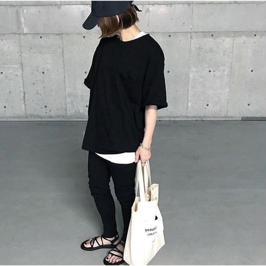 【6月初旬入荷】ビッグシルエットT black