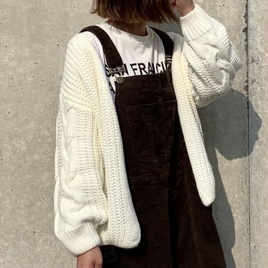 【sold out】ケーブルニット カーディガン
