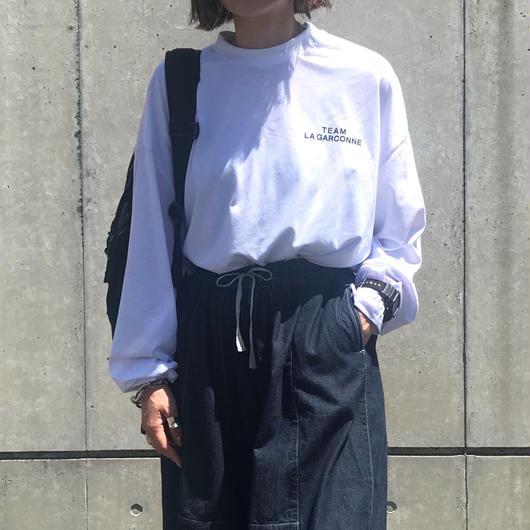 【9月中旬入荷】logoロングカットソー(white)
