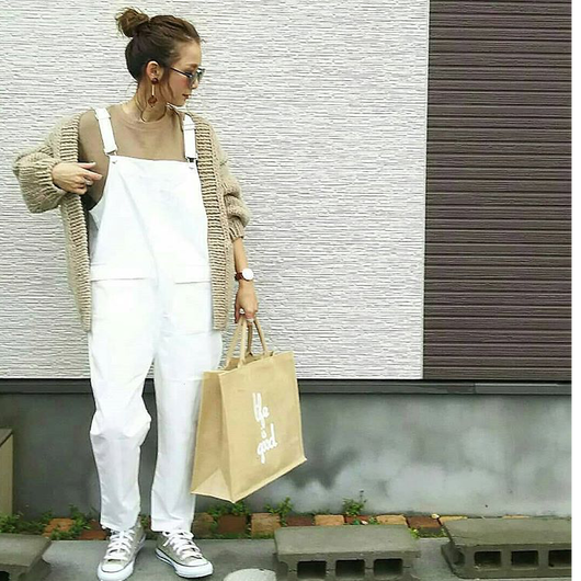 【sold out】 サロペット white