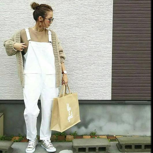 【予約】 サロペット white