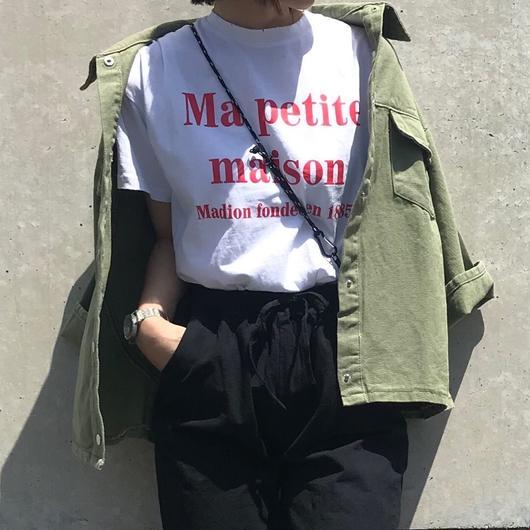 赤ロゴTシャツ(White)