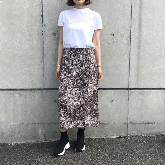 【sold out】レオパードミモレ丈スカート