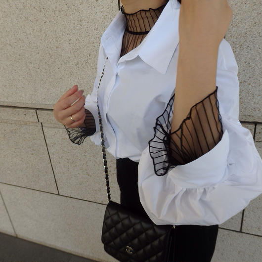 layered lace blouse