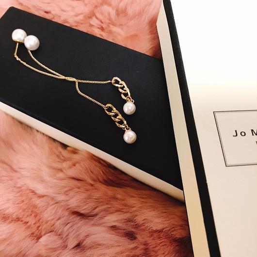 pearl chain earrings