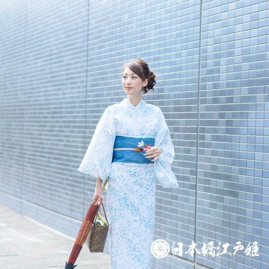 0233 夏着物(薄物) 小紋 絽 化繊