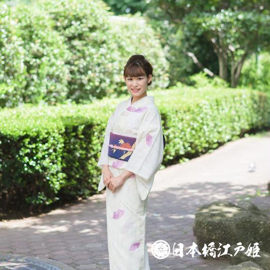 0189 美品☆夏物(薄物)   小紋   絽  化繊