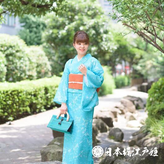 0186 美品☆夏着物(薄物) 小紋 絽 化繊