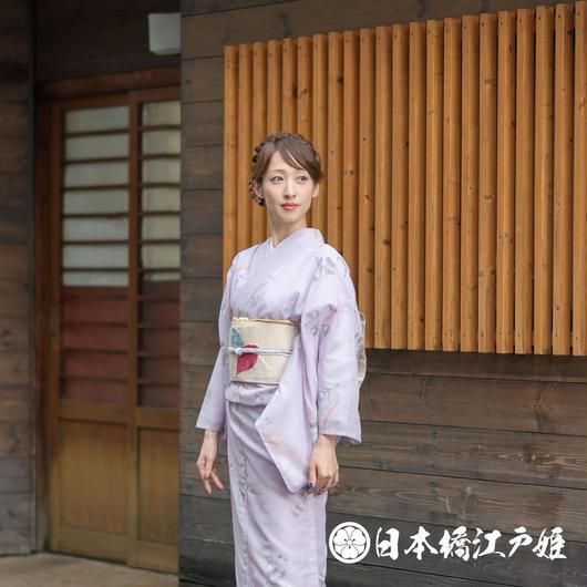 0239 夏着物(薄物) 小紋 絽 化繊