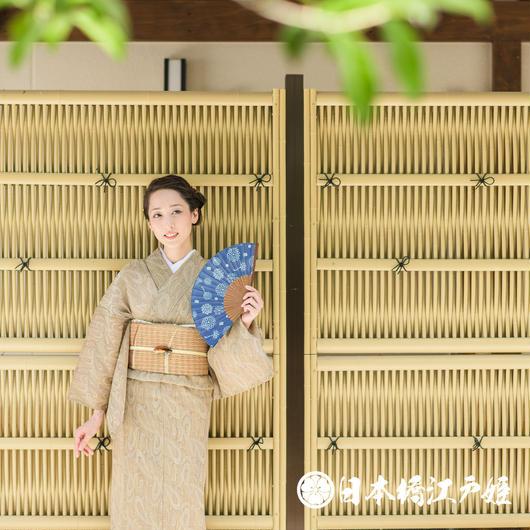 0191  美品☆夏着物(薄物) 小紋 化繊