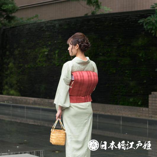 0226 美品☆夏物 名古屋帯 紗 正絹