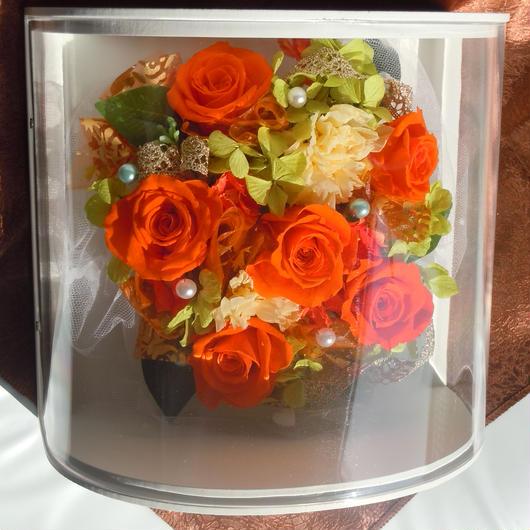壁掛け オレンジバラ
