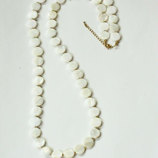W-1 ホワイトシェル ネックレス 90cm