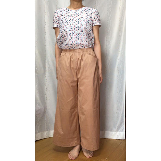 Wide-Pants Lsize パターン*期間限定無料