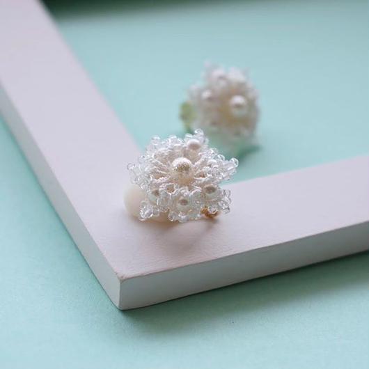 Snow flower ピアス/イヤリング